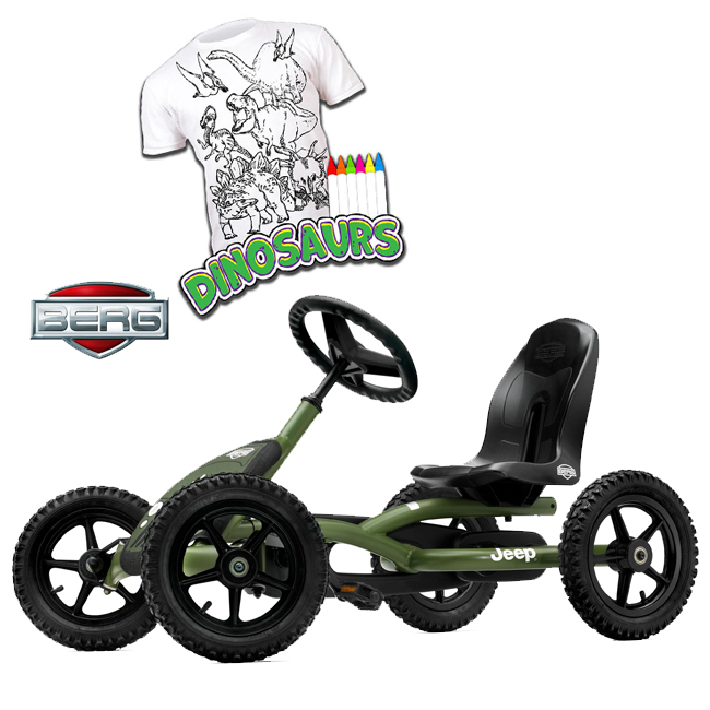 Kart BERG Jeep Junior + Cadou Tricou Splat Planet